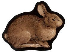 rabbit stained glass fragment, kilnfired, rabbit suncatcher, stained glass, glas