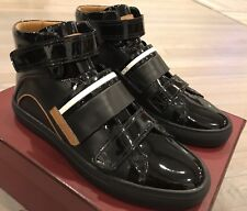700$ Bally Herick Black Leather High Tops Sneakers size US 14