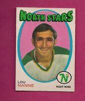 1971-72 OPC # 240 NORTH STARS LOU NANNE VG CARD  (INV# A353)