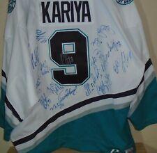 Paul Kariya Anaheim Mighty Ducks team signed autographed hockey jersey