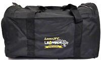 Mens Canvas Black Duffle Foldable Waterproof Sport Gym Travel Tote Shoulder Bag