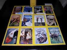 12 NATIONAL GEOGRAPHIC MAGAZINE COMPLETE SET 1979 ~ INCLUDES 4 SUPPLEMENTS/MAPS
