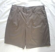 Nike Golf Mens Brown Pleated Athletic Golf Shorts Size 35