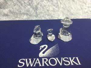 Swarovski Crystal Holy Family (Set of 3) 7475100000 160795. Retired 1993. MINT