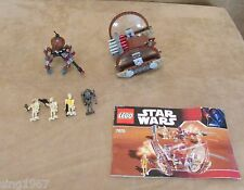 7670 Lego Star Wars The Clone Wars complete Hailfire Droid & Spider minifigure