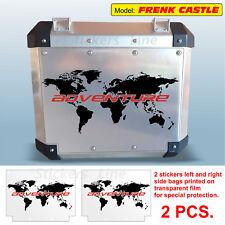 Adhesivos maletas BMW mapa general bolsas aluminio R1200GS ADV Rojo FRENK CASTLE