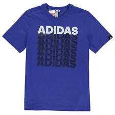 adidas Repeated Logo Tee Shirt Junior SIZE 13/14 YEARS