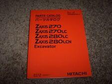 Hitachi Excavator Zaxis 270 270LC 280LC 280LCN Parts Catalog Manual 020001-