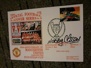 NOBBY STILES SIGNED FIRST DAY COVER. MANCHESTER UNITED. EUROPEAN CUP FINAL 1968