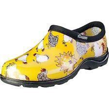 Sloggers Chicken Print Collection Women's Rain & Garden Shoe, Size 10, Daffodil