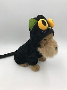 Martha Stewart Black Cat Monster Halloween Costume For Pets Dog Sz M