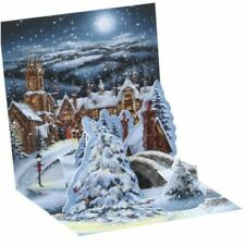 Mini Pop Up 3D Christmas Card by Upwithpaper - Midnight Village