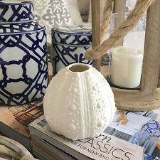 Small Urchin Vase/White Vase/Decorator Piece/Shelf Ornament/Coastal Hampton's