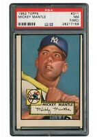 1952 MICKEY MANTLE TOPPS  #311 PSA 7 NM (mc)