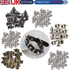 Fashion Punk Studs Spike Rivets with Pins Brass Material for DIY Crafts 100pcs