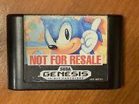 Sonic the Hedgehog Sega Genesis used video game untested