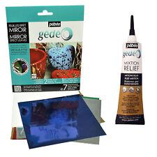 Pebeo Gedeo Spiegeleffekt Farbe Gleiten Folie Blätter & 3D Mixtion Klebstoff