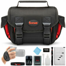 New Focus Deluxe SLR Accessory Kit Black Soft Shell Camera Bag Cleaning Kits ++