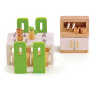 E3454 HAPE Wooden Dining Room [Happy Family] Toddler Children 3 Years + 23 pcs