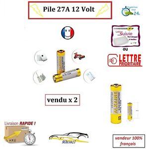 Pile 27A pour télécommande 12 volt vendu par 2
