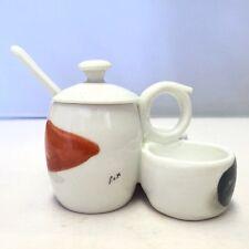 """Vintage Porcelaine de Paris Hand Painted Jelly and Condiment Jar/Server """"Signed"""""""