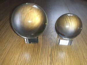 GLASS BALL,S X 2 80 + 60MM PHOTOGOPHY/DECOR