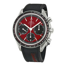 Omega Speedmaster Racing Automatic Chronograph Red Dial Stainless Steel Mens