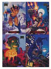 1994 MARVEL MASTERPIECES '94 EDITION UNCUT 4-CARD 5X7 SHEET WOLVERINE VENOM
