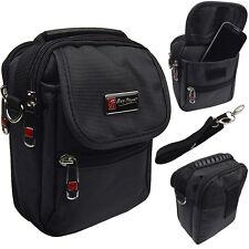 Kleine Umhängetasche Herrentasche schwarz  auch als Gürteltasche 13 x 17 cm 2360