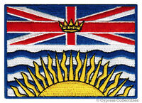 BRITISH COLUMBIA FLAG embroidered iron-on PATCH CANADA EMBLEM Canadian Province