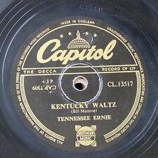 78rpm TENESSEE ERNIE kentucky waltz / stack-o-lee
