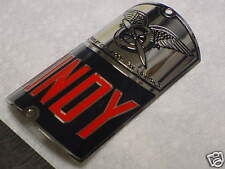 Lindy 4th Bike Badge Bicycle Emblem Acid Etched Nickel Shelby Cycle 1935 - 1938