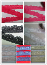 Beautiful  quality stretch lace 10/20/50 yards a variety of colors to select