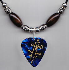 Rascal Flatts Jay Demarcus Blue Pearl Guitar Pick Necklace - 2010 Tour