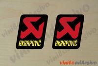 PEGATINA STICKER VINILO MOTO Akrapovic cuadrado ref_2  aufkleber autocollant