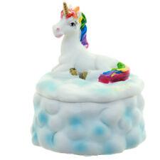 Rainbow Unicorn on Cloud Trinket boxes in 2 designs