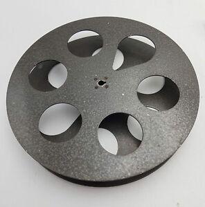 """Vintage 35mm Film Reel Spool 10"""" Diameter [Interlocking] Metal   Surface Wear"""