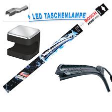 BOSCH AeroTwin A295S Scheibenwischer Set  + Osram Cuby LED Taschenlampe!