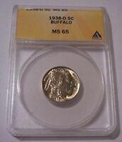 1938 D Buffalo Nickel MS65 ANACS