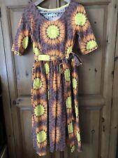 Bespoke Lofty Frocks Vintage Fabric Dress Size 10 12