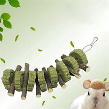 Pet Teething Chew Toy Natural Grass Cake Branch Apple Stick For Rabbits Hamsters