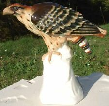 -Ceramique Craquelée vintage Eagle on Rock Aigle sur un Rocher