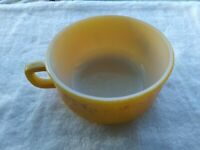 Vintage Fire King Anchor Hocking D Handle Soup Bowl W/Handle Yellow