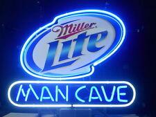 """New Miller Lite Man Cave Beer Neon Sign 17""""x14"""""""