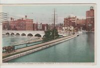 Vintage Postcard NY- Rochester Where the Erie Canal Crosses the Genesee -