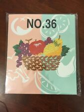 New Brother Babylock Bernina Embroidery Machine Memory Card: Fresh Fruits No. 36