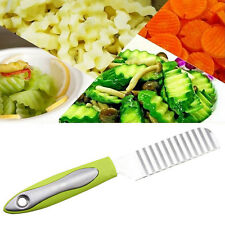 Stainless Steel Wave Knives Zigzag Blade Slicer Kitchen Potato Chip Cutter Tool
