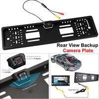 EU Car License Plate Reversing Parking Backup Camera Rear View Kit Night Vision