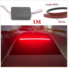 12V 100cm Red Car Rear Dynamic Streamer Brake Light LED Warning Lamp Tail Lamp