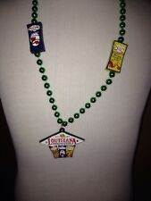Louisiana Fish Fry Crawfish Medallion Beads Mardi Gras New Orleans Cajun Shrimp